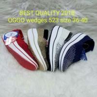 Sepatu OGGO wedges rajut/anyaman tipe 523