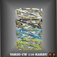 Stiker striping list motor vario lama cw 110 karbu motod thailook