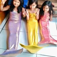 mainan mermaid anak sisik putri ikan duyung anak baju renang mainan