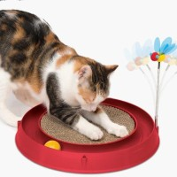 Catit Circuit Ball Toy with Scratch Pad - MAINAN KUCING