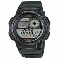 jam tangan pria casio ae-1000w-1avdf original black hitam sporty murah