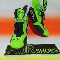 Sepatu drag touring alpinestar k3 stabilo hitam putih