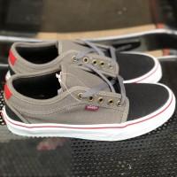Sepatu Vans Chuka Low Grey White Black Premium BNIB Waffle DT Murah
