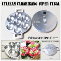 Cetakan Kue Karabikang JB Super TEBAL - Serabi - Bika Ambon + TUTUP