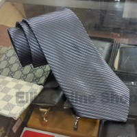 Dasi Panjang Pria Motif Salur Steel Grey - Lebar 3 inch (7,5 - 8cm)