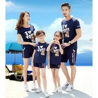 Family 2 Anak Brown Love - Baju Family/ Family Couple/ Baju Keluarga