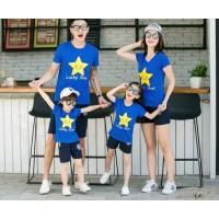 Family 2 Anak Happy Star - Baju Family/ Family Couple/ Baju Keluarga