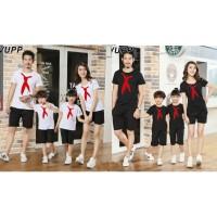 Family 2 Anak Sailor Tie - Baju Family/ Family Couple/ Baju Keluarga