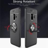 Samsung S9 Plus Auto Focus Soft Cover Stand Casing Premium Case I Ring