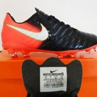 SEPATU BOLA Nike Tiempo Legend VII FG Ori IMPORT (Black Orange)