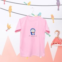 Tumblr Tee / T-Shirt / Kaos Wanita Lengan Pendek Doraemon Warna Pink