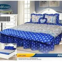 bedcover set my love california warna biru 180x200 ori