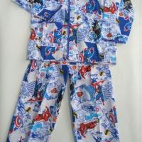 Hayami baju tidur setelan piyama lengan panjang justice league superma
