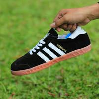 Sepatu adidas hamburg black white sneaker casual football Seporter
