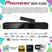PIONEER BDP-X300 MEDIA player for BD, DVD, CD,SACD,DLNA1.5,USB,WIFI