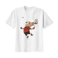 Kaos Baju Tshirt Distro Asian Games 2018 Maskot Badminton Putih
