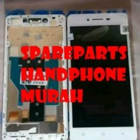LCD TOUCHSCREEN FRAME OPPO R7 R7F COMPLETE ORIGINAL