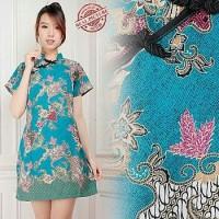 leaf cheongsam*baju dress cina*baju dress batik jumbo*murah*sale*adat