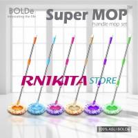 Tongkat, Kepala & Kain Pel SUPER MOP BOLDe | Komplit 1 Set