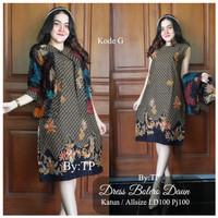 Baju batik wanita-dres batik wanita-balero daun