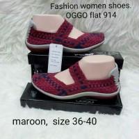 Sepatu OGGO rajut/anyaman tipe 914