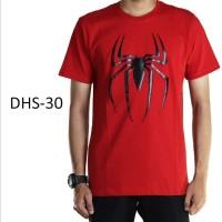 Kaos Baju Pria Dewasa Superhero Spiderman warna Merah - DHS30