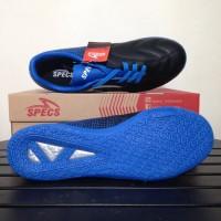 NP Sepatu Futsal Specs Equinox IN Black Tulip Blue 400772 Original