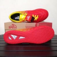 NP Sepatu Futsal Specs Equinox IN Emperor Red Yellow 400711 Original