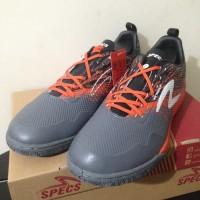 NP Sepatu Futsal Specs Metasala Warrior Dark Granite Orange 400743 Ori