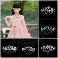 Bando Mahkota Anak & Dewasa Princess Wedding Crystal Crown Headband
