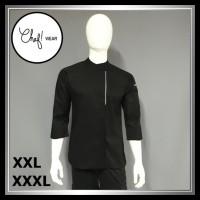Chef Wear Baju Koki Hitam Hitam Komb Net XXL-XXXL (Bis Abu)