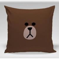 Bantal Sofa / Cushion Line Brown face