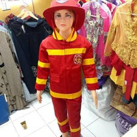 Pakaian pemadam kebakaran anak - baju profesi - kostum karnaval
