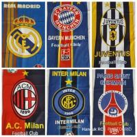 Handuk Klub Sepakbola Handuk Mandi Club Bola Dunia 50x100 Barca MU