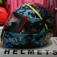 HELM KYT X ROCKET MOTIF LORENG TERBARU STOK READY Size M L XL