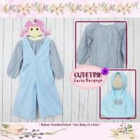 (1-3 tahun) JK 01 Baju Muslim Anak Cutetrik Jumpsuit Kulot Biru Muda