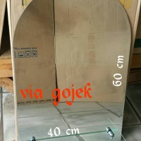 Cermin Wastafel / Kaca Kamar Mandi motif Polos 40x60