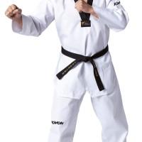 Baju Seragam Dobok Taekwondo Kerah Hitam Kwon Victory Bkn Moks Adidas