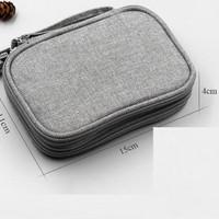 Tas Dompet Gadget Double Zipper Mutifungsi Smartphone powerbank