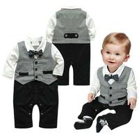 Baju Bayi Laki Laki Jumper Jas Hitam Putih Dasi Kupu Kupu