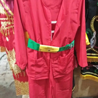 Pakaian pangsi + gesper baju adat betawi anak