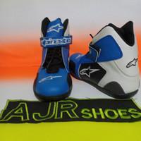 Sepatu drag alpinestar biru hitam putih