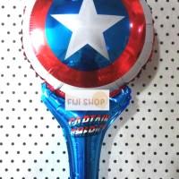 Balon Foil Tongkat / Pentung model Tameng Captain America