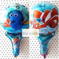 Balon Foil Tongkat / Pentung / Tenis Model Nemo / Ikan