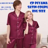 NOSH CP Couple Piyama Satin Big Size Ukuran Besar - Jumbo