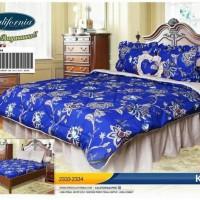 bedcover set my love california warna biru 180x200 ori halus