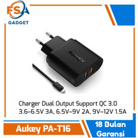 AUKEY PA-T16 DUAL PORT QC 3.0 ORIGINAL GARANSI