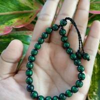 gelang tasbih tali arus akar bahar hijau