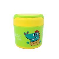 BABY BEYOND Food Grade SS Food Jar with Handle 400ml-HIJAU-BB1010