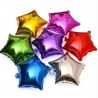 balon foil bintang hati love 40 cm heart star shaped balloon